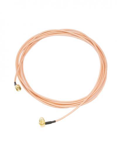 300CM SMA Extension Cable: SMA Male to SMA Female Right Angle