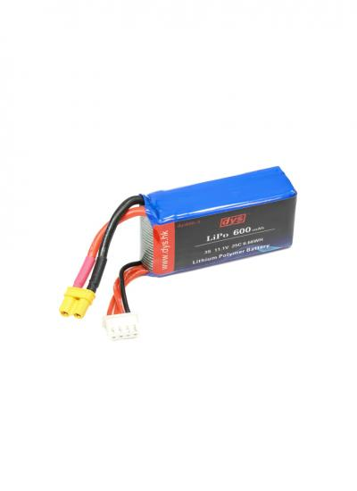 DYS 600mAh 3S 25C LiPo XT30 - Original DYS Shark Battery