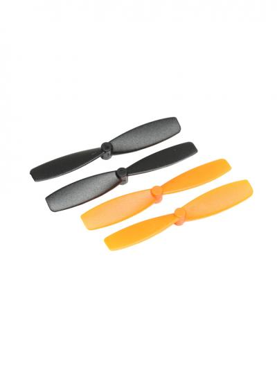 Orange & Black 55mm Propeller Pack for QR Ladybird, QX90, Hubsan etc. (2 x CW, 2 x CCW)