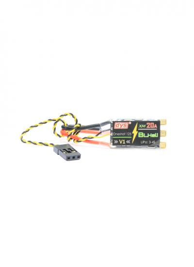 DYS XM20A V1 BLHeli Multirotor 3-4S OPTO 20A ESC with Solder Pad