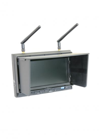"DYS-702 5.8GHz 32-Ch Diversity 7"" LCD FPV Monitor Receiver with Folding Sunshade"