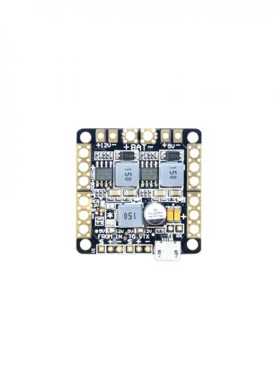 FPV Mini Power Distribution Board with LC Filter 5/12v BECs, Minim OSD and FTDI
