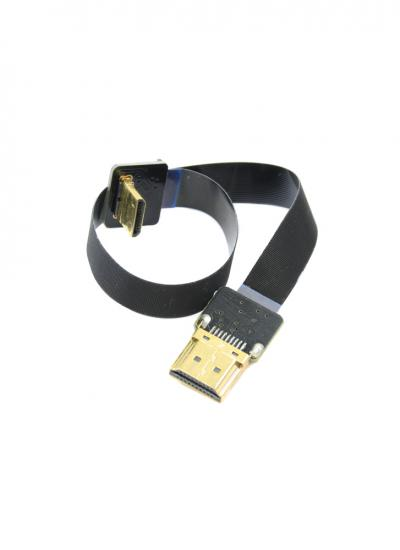 20cm HDMI Mini to Standard HDMI Flat Ribbon Cable