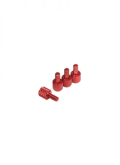 Red Male-Female Anodised Aluminium Alloy Standoff M3x6/6mm (4 Pcs)