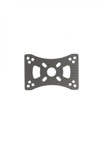Carbon Fibre Motor Mount Plate for 16mm/22mm/25mm Tube - 1Pc