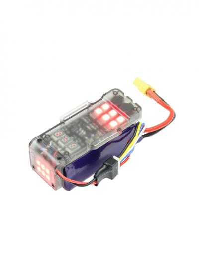 Racing Drone Multifunction 3-4S LiPo Battery Protection Board with LED Lights and Low Voltage Alarm