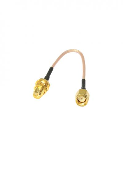 10cm SMA Antenna Extension Cable with Thru Hole Mount (RP-SMA)