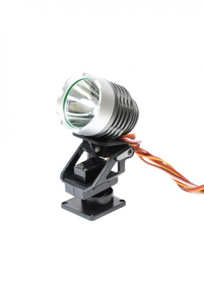 Powerful Searchlight with Servo Pan/Tilt Mount & Remote Light Mode Switching
