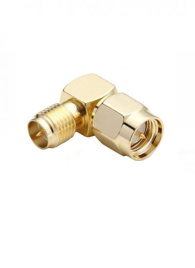 SMA Male to RP-SMA Female Right Angle Adapter