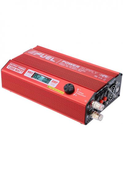 SkyRc eFuel 50A 1200W 15-30V DC Switching Power Supply V2 w/LCD Display