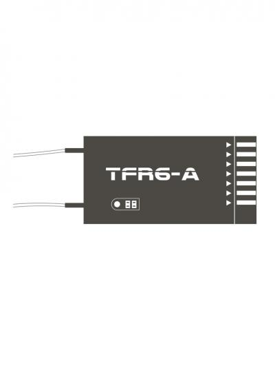 FrSky TFR6-A 7CH 2.4GHz Receiver Futaba FASST Compatible (Horizontal Connectors)