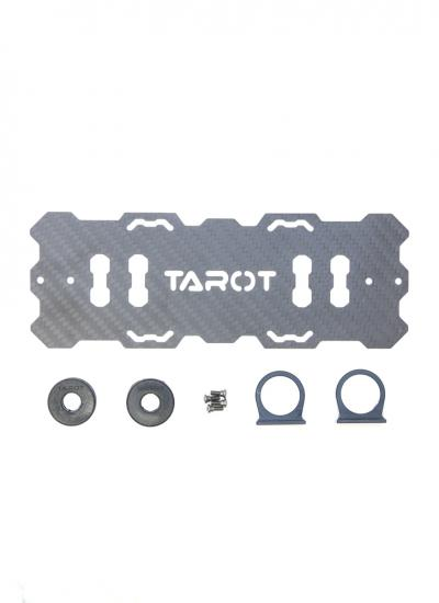 vTarot Carbon Fibre LiPo Battery Mount and 12mm Shock Absorbing Clamps for T810/T960 - TL96015