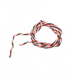 Twisted 22AWG Servo Wire Red / Black / White (1mtr)