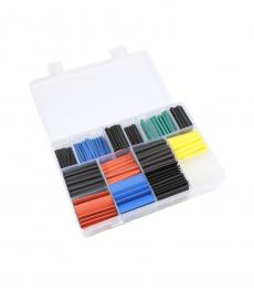 580pcs 2:1 Polyolefin Heat Shrink Kit - 11 Sizes / 6 Colours