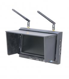 "DYS-700D 5.8GHz 32-Ch Diversity 7"" LCD FPV DVR Monitor Receiver with Folding Sunshade"