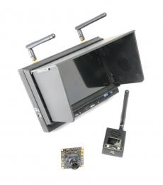 Professional FPV Bundle Kit - Monitor/RX, Transmitter and CCD Camera