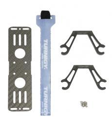 Carbon Fibre 2-4s LiPo Battery Mount 13cm x 3.5cm & 12mm Load hangers