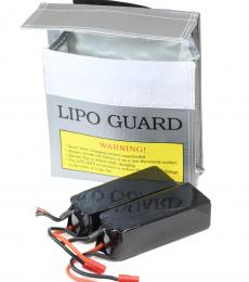 LiPo Battery Guard Bag 15.5x15.5x5cm 2x 3S 6000mAH Battery