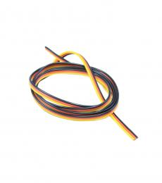 Flat 22AWG Servo Wire Red/Black/Yellow (1mtr)