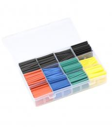 530pcs 2:1 Polyolefin Heat Shrink Tube Kit - 8 Sizes / 5 Colours