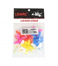 LDARC 40MM 4 Blade Brushed Props - Rainbow Bag 10 Pairs CW / CCW (1MM HUB)