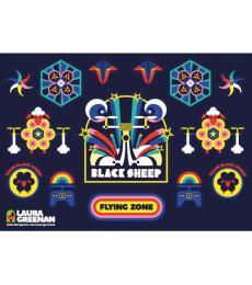 Team Black Sheep TBS Sticker Sheet - Designed by Laura Greenman (Version G)