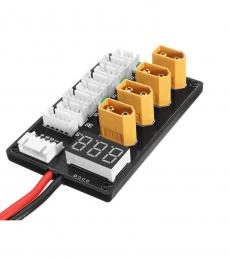 XT60 Fused Parallel Charging Board for 3-4S LiPo with Voltage Meter