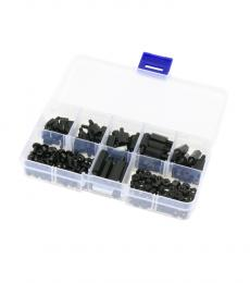 M3 Nylon Black Male-Female Hex Spacers Screw Nut Assortment Kit