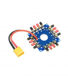 Octocopter Power Distribution Board with 3.5MM Bullets and XT60