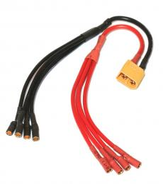 XT60 to 4 X 3.5mm bullet ESC Power Breakout Cable
