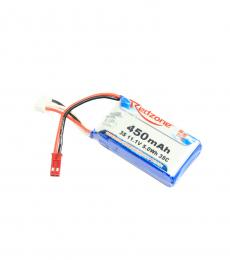 Redzone 3S 11.1V 450mAh 35C LiPo Battery - JST