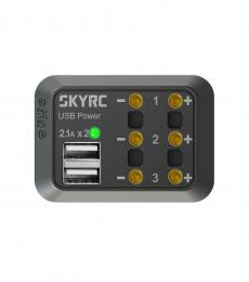 SkyRC 10A DC Power Distributor 3x DC Output + 2x USB - XT60 Plug