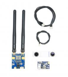SCAM302 3D Camera & STX202 Dual FPV Transmitter for Skyzone SKY02S V+ Goggles