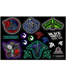 Team Black Sheep TBS Sticker Sheet - Designed by DogWood Graphix (Version F)