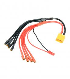XT60 to 4 X 3.5mm Female Bullet ESC Power Breakout Cable with Male JST Plug